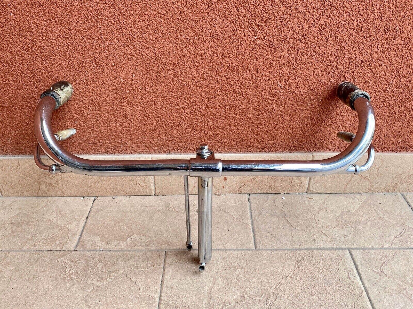 Manubrio Umberto Dei A3   Marca Gold A anni '30, per bici d'epoca