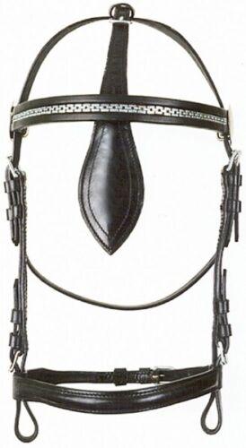 Fahrkopfstück /'Standard/' ohne Scheuklappen schwarz KB Kopfstück Pfiff 007327
