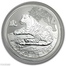 Perth Mint Australia 2010 Lunar Tiger 1 oz .999 Silver Coin