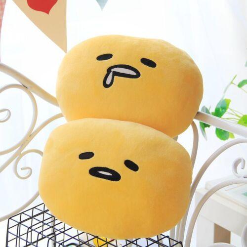 2pcs Gudetama shy big head fuzzy bone pillow cushion car cushions anime new