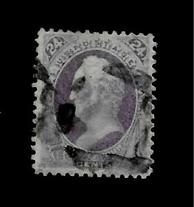 US-1870-Sc-153-24-c-Purple-Scott-Used-Centered-Crisp-Color