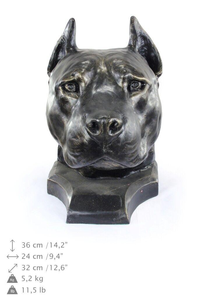 American Staffordshire Terrier  dog head resin figurine, high quality, Art Dog