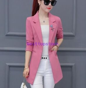 Women Fashion Korean Version Long Sleeve Slim Fit Casual Jacket Blazer Coat Ebay They are some of the most gorgeous, attractive, hottest women from korea. ebay
