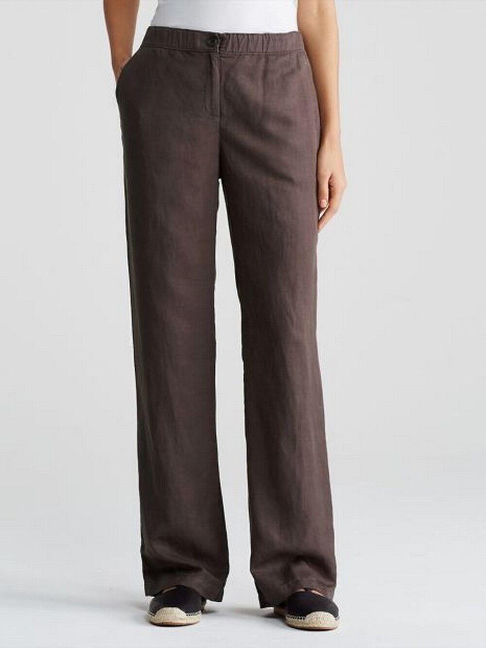 Eileen Fisher Rye Tencel Linen Straight Pant Size 24W