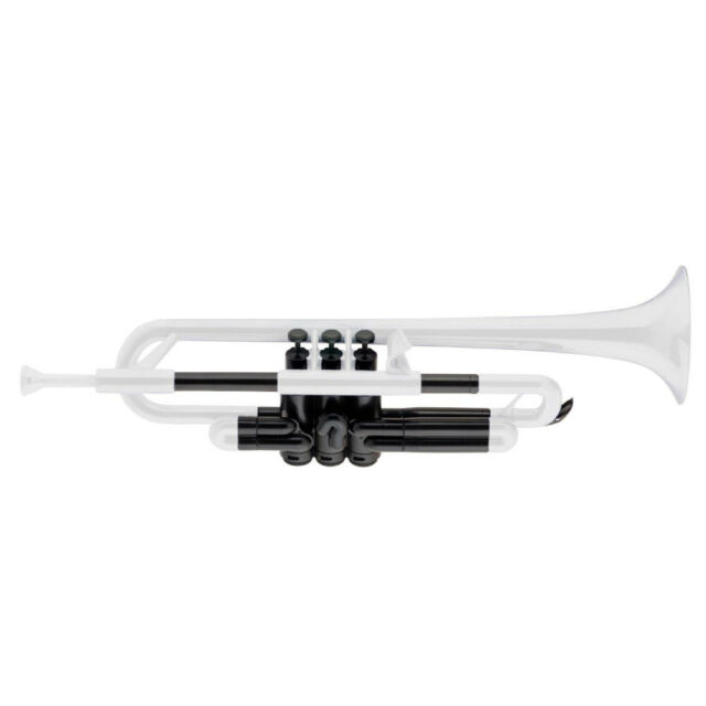 pTrumpet Plastic Bb Trumpet in White BRAND NEW