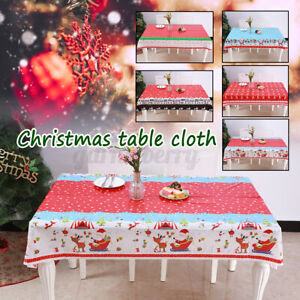 Rectangular-Christmas-Tablecloth-Table-Cloth-Xmas-For-Home-Dinner-Cover-Decor-US