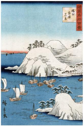 Japanese POSTER.Stylish Graphics.Marine.Asian art.Room Wall Decor 101i