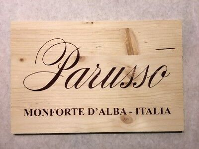 Bar Tools & Accessories Home & Garden Well-Educated 1 Double Sided Rare Wine Wood Panel Parusso Vintage Crate Box Side 5/18 768 Clear-Cut Texture