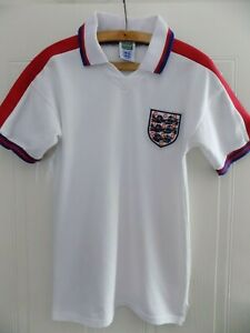 Coupe-du-monde-1976-Officiel-Angleterre-Score-Draw-Retro-Football-soccer-jersey-shirt