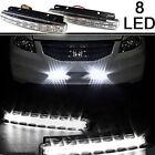 2x 8LED Car Fog Lamp 12V Daytime Driving Running Light DRL Waterproof DC White