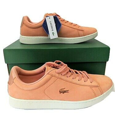 Lacoste Carnaby Evo Men/'s Casual  Pink Leather  Trainers Uk 9