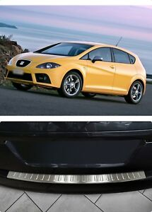 For-Seat-Leon-MK2-2005-2013-Chrome-Rear-Bumper-Protector-Scratch-Guard-S-Steel