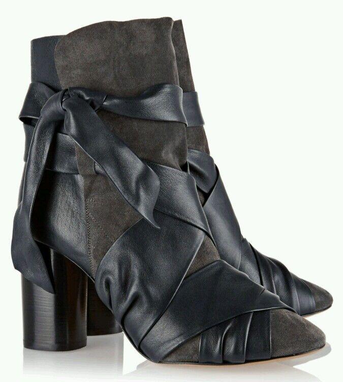 SALEbnwb Isabel Marant Azel ankle boots.ink grey  4 37.