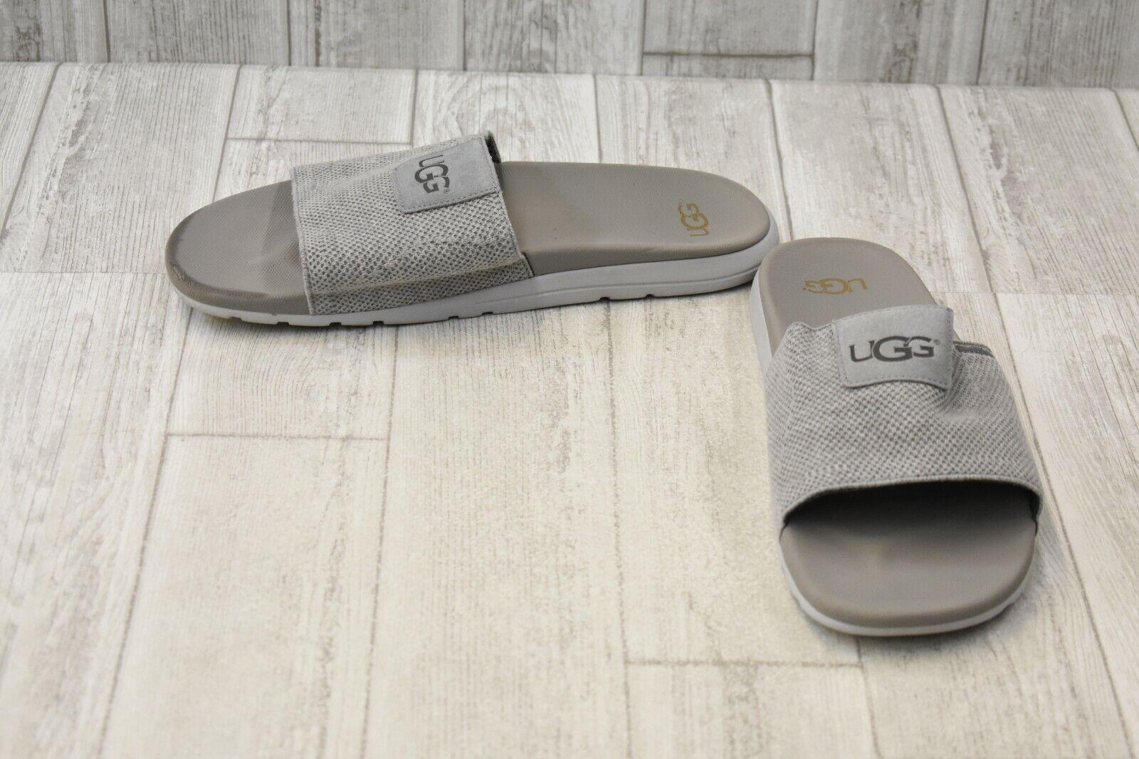 7a2cd26ac65 UGG Mens Xavier Hyperweave Seal Gray Knit Slide Sandals 1092299