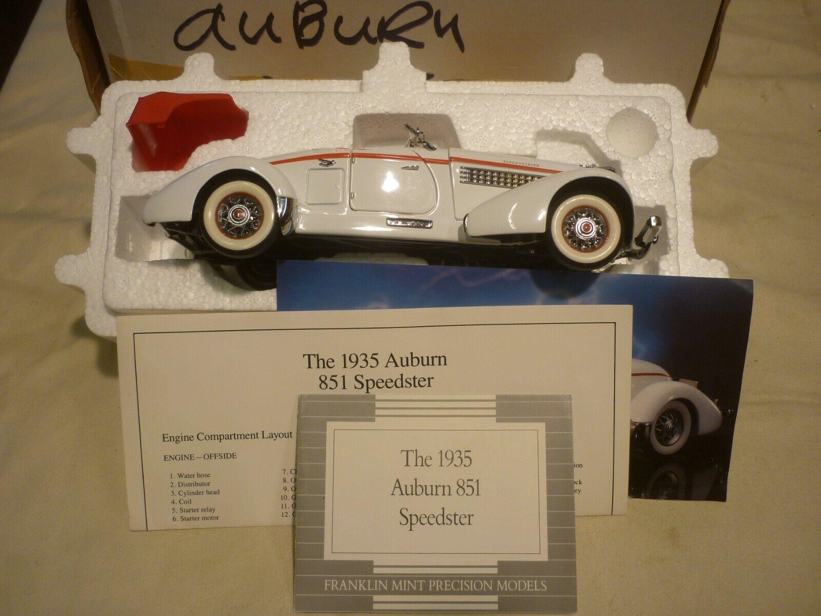 A Franklin mint scale model of a 1935 Auburn 851 Roadster,,  boxed