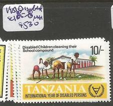 Tanzania 1981 Disabled SC 185-8 MNH (5css)