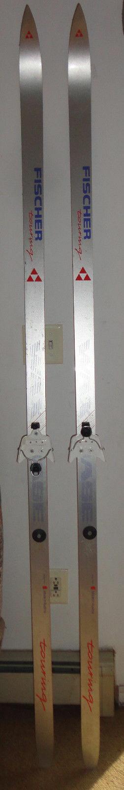 FISCHER Fiber CROSS COUNTRY SKIS 210-82 Austria NORDIC Nom Binding Alpine Wax