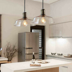 Image Is Loading Rustic Modern Gl Shade Pendant Light Ceiling Lamp