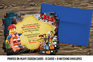 Image Is Loading Personalised Lego Party Birthday Invitations Card