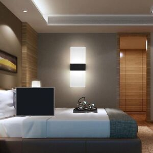 Details About Modern LED Acrylic Wall Sconces Bedroom Bedside Lamp Bed  Light Wall Fitting Lamp