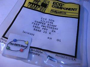 ECG506-Sylvania-Silicon-Si-Damper-Diode-1400PRV-NTE506-NOS-Qty-1