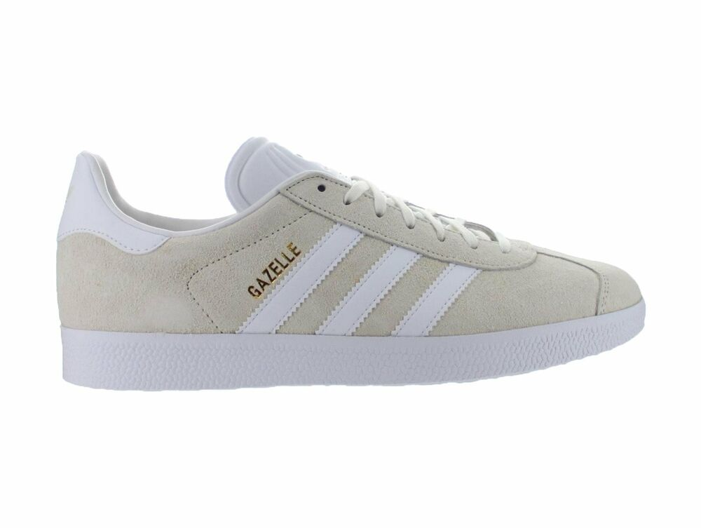 Mens Adidas Gazelle Off blanc Chalk blanc Metallic Gold BB5475
