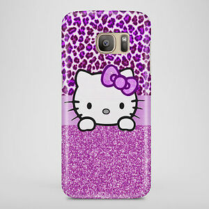 Purple-PRINTED-Hello-Phone-Case-Kitty-Cat-Cute-Cover-Phone-case-UK