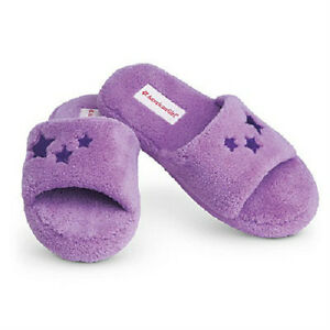 4c717f2e69279 Details about American Girl Doll McKenna's Purple SLIPPERS for GIRLS Girl  size XS S M L or XL