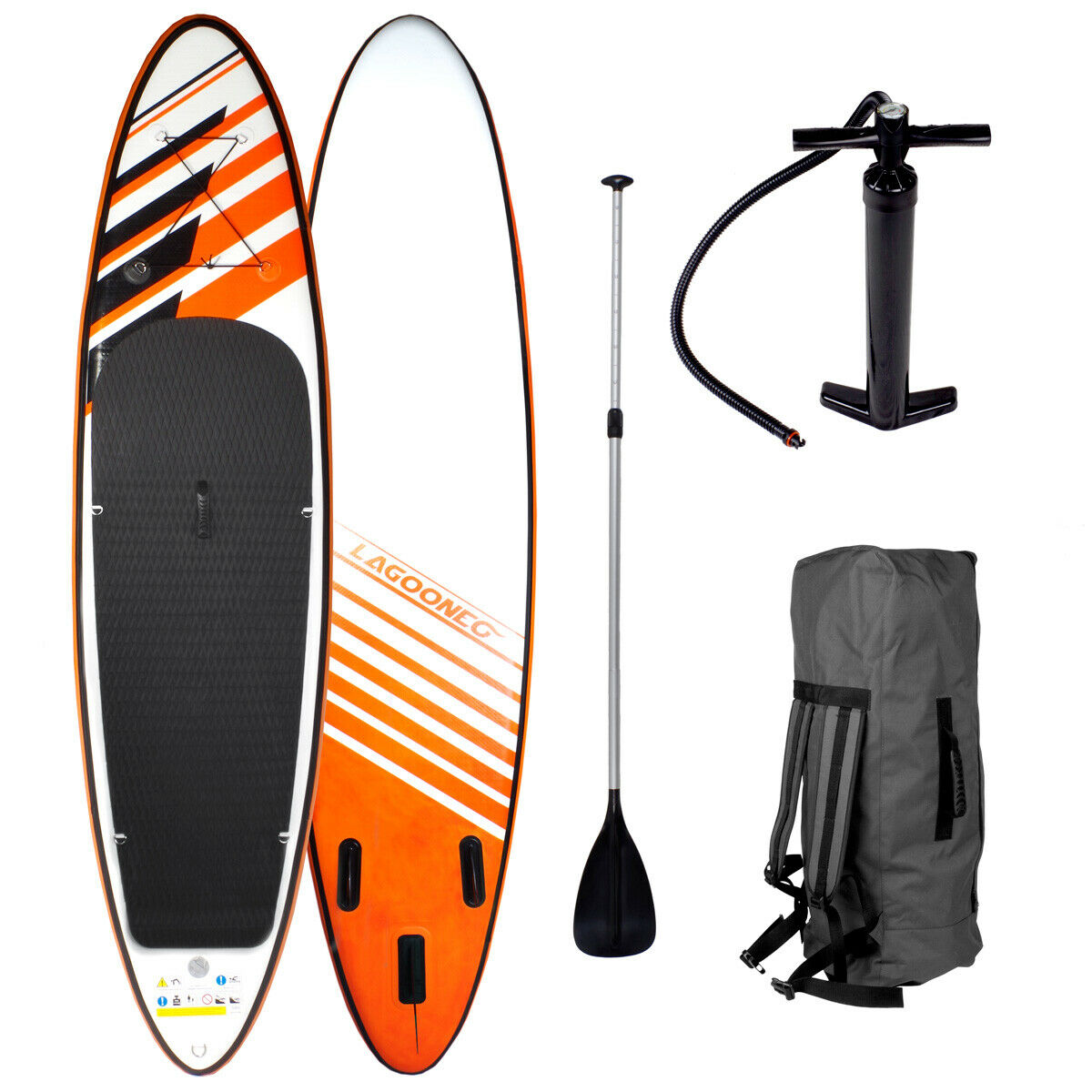 Sup Board Stand up Paddle Surf-Board Inflatable Incl. Paddle Isup Paddling 300cm