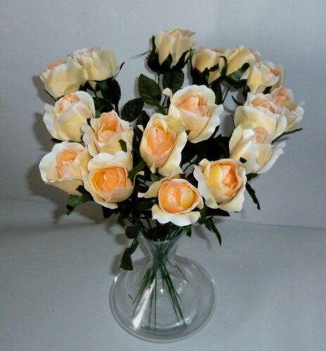 Seidenblumen salomon Kunstblumen 1 x Rose Edelrose creme