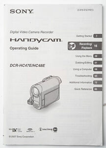Manuale-d-039-uso-camera-Sony-dcr-hc47e-hc48e-instruction-operating-GUIDE