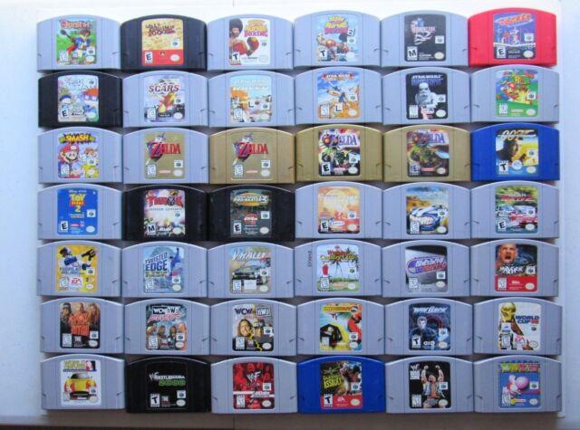 *OKAY* (Q-Z) Nintendo 64 N64 Games Authentic Tested Zelda Super Mario Smash OEM