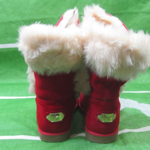 NEW Kid  Red Winter  Flat Ankle Boot Fur Inside Size 2