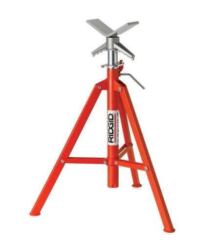 12-Inch Pipe Stand RIDGID 22168 Model VF-99 V Head High Folding Pipe Stand