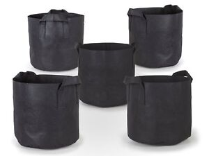 5Pcs/Pack Black Fabric Grow Pots Breathable Plant Bags Smart Plant with handle