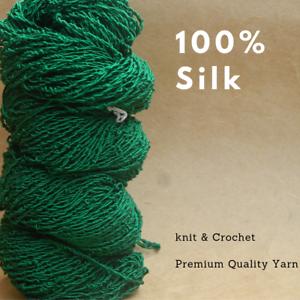 1-Skein-90-Grams-Dyed-100-Mulberry-silk-250-Meters-Loose-Twist-1