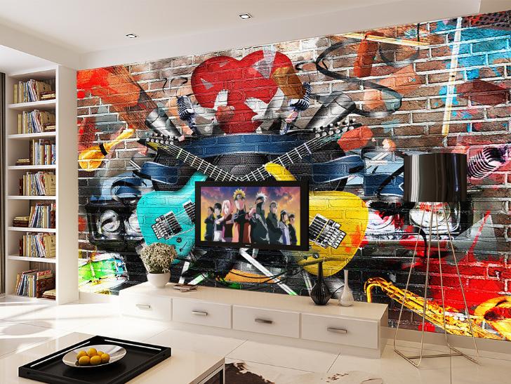 3D Music Guitar 784 Wall Paper Murals Wall Print Wall Wallpaper Mural AU Kyra