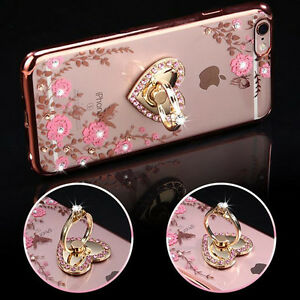 US-Shockproof-Bumper-Silicone-TPU-Bling-Clear-Cover-Case-For-iPhone-X-6-7-8-Plus