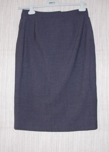 Lida Baday Gray Wool Stretch Pencil Lined Skirt Si