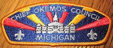 Chief Okemos Shoulder With Fleur Di Lis Uniform Boy Scout Patch Bsa