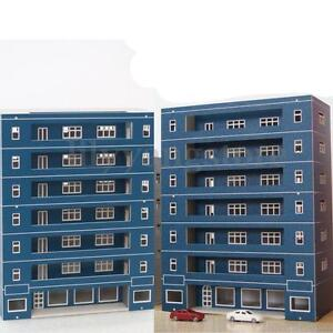 N-Scale-Apartment-School-Building-1-144-For-Gauge-Outland-Model-Train-Layout