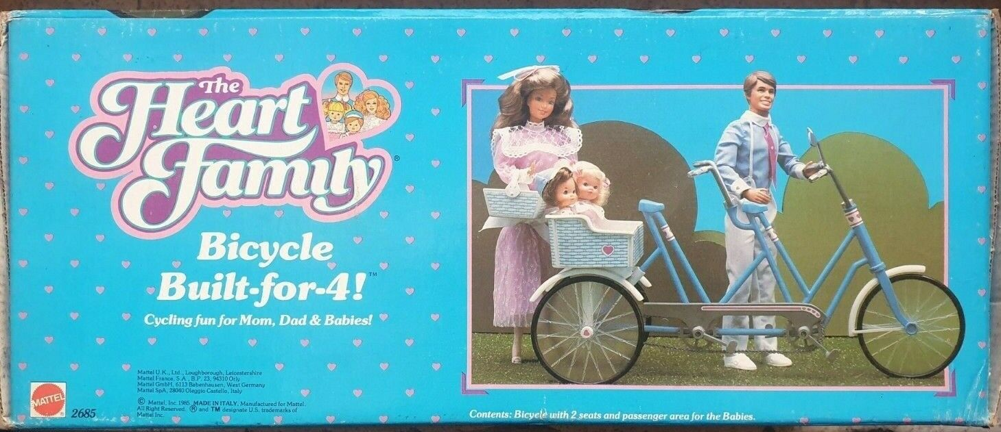 The Heart Family Mattel - Tandem Bicycle Build-for-4 Build-for-4 Build-for-4 Vintage 85' 6c35a0