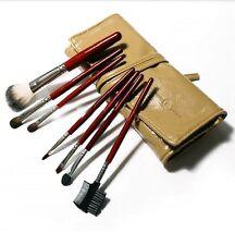Makeup Brush 7 Pcs Set, Hair Bristle Eyes Shadow Blush- Brown Case