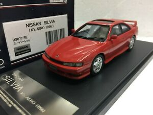 1-43-HI-STORY-HS077RE-NISSAN-SILVIA-S14-K-039-S-AERO-RED-240SX-180SX-model-car