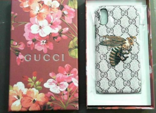 GUCCI CASE FOR IPHONE X WITH BEE LOGO