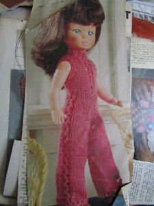Vintage Dolls Clothes knitting pattern removed from old magazine catsuit - <span itemprop='availableAtOrFrom'>Yorks, United Kingdom</span> - Vintage Dolls Clothes knitting pattern removed from old magazine catsuit - Yorks, United Kingdom