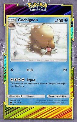 ☺ Carte Pokémon Cochignon REVERSE 20//111 VF NEUVE SL4 Invasion Carmin