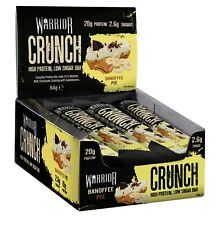 Warrior Crunch High Protein Bars Low Carb Low Sugar x 12 Per Box Free Shipping