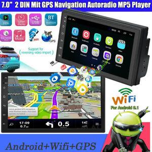 "7"" Android 8.1 AUTORADIO mit GPS Navigation NAVI BLUETOOTH WIFI DOPPEL 2 DIN MP5"