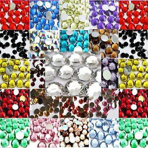 1000-CRYSTAL-RHINESTONES-CRYSTAL-DIAMANTE-FLAT-BACK-GEMS-2-3-4-5mm